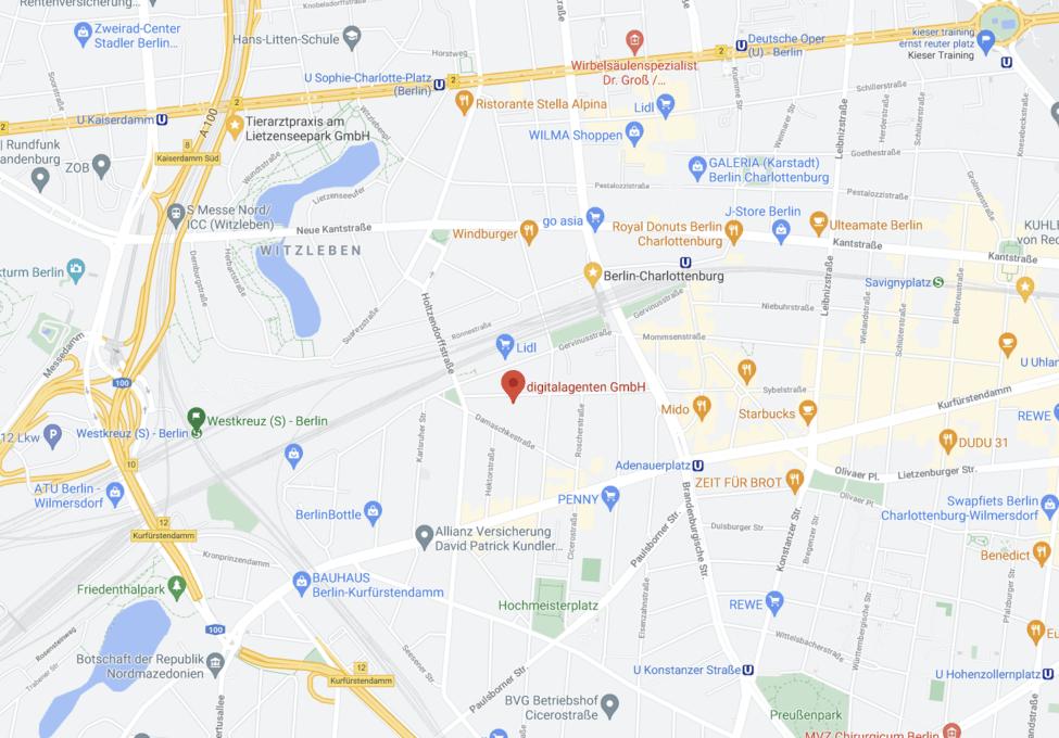 Die digitalagenten GmbH auf google maps